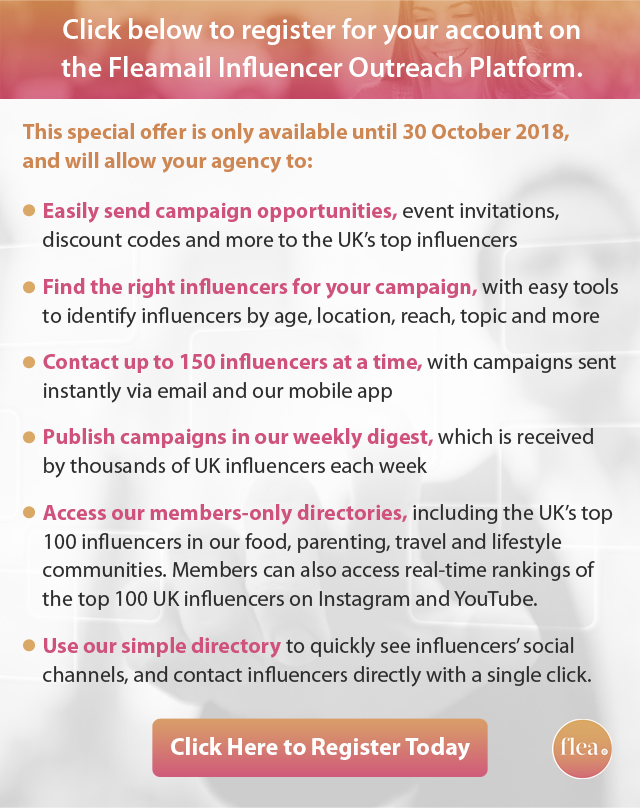 register for Fleamail influencer outreach platform